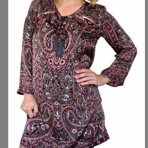 CALYPSO ST. BARTH Silk Paisley Dress